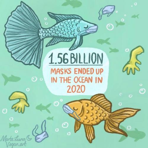 1.56 Billion Masks Ended Up in the Ocean in 2020 - Marte Luna